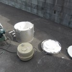 バラバラ灯油窯