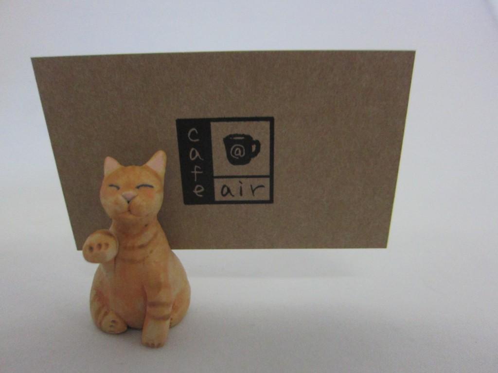 猫 カード立