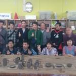 岡山から団体陶芸体験