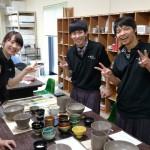 愛知からの陶芸体験のお客様