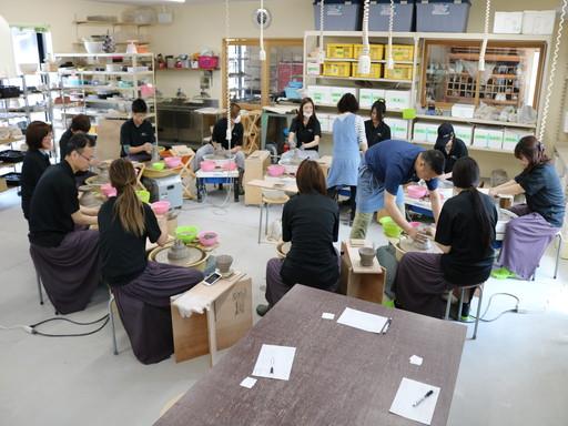香川 丸亀 陶芸 レクリエーション ロクロ 体験 (3)