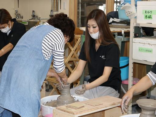 香川 丸亀 陶芸 レクリエーション ロクロ 体験 (4)