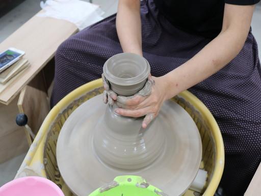 香川 丸亀 陶芸 レクリエーション ロクロ 体験 (2)