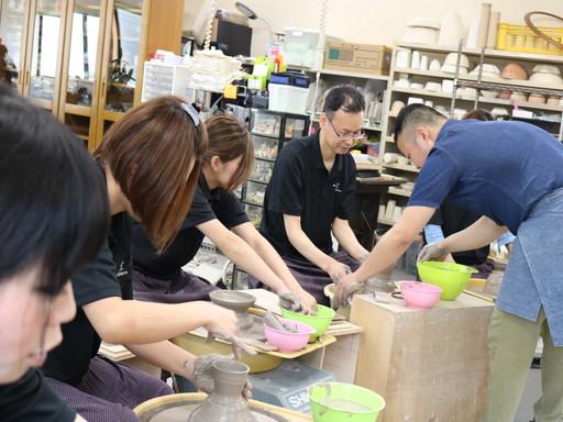 香川 丸亀 陶芸 レクリエーション ロクロ 体験 (5)