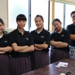 台湾の学生さんのロクロ体験の写真