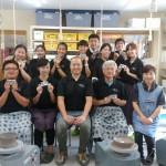 台湾の学生がロクロ体験に来てくれました。