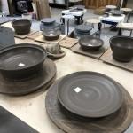ロクロで土鍋製作