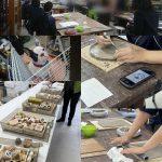 【記念のお皿作り】養護学校の団体陶芸